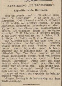 kunstkring De Regenboog NvhN 30-01-1937
