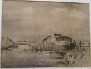 tekening woonboot